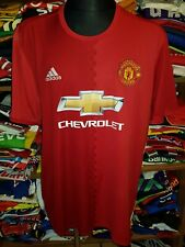 MANCHESTER UNITED 2016/2017 HOME SHIRT SIZE XXL JERSEY (n414)