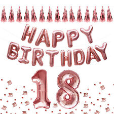 18. Geburtstag Party Deko Set - Happy Birthday Ballons + Girlanden + Konfetti