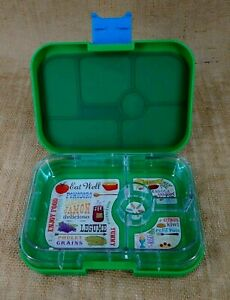 YUMBOX Kids Bento Lunch Box Leakproof Container Green 4 Compartments
