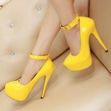 Sexy Women's Candy Color Super-High Heel Pump Platform Shoes Boots Sandals