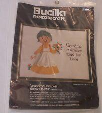 New Bucilla Needlecraft Grandma Sampler Needlepoint Kit 48508