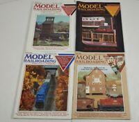Model Railroading Magazine Lot Of 4 1990