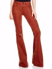 $248 NWT 929 J BRAND 24 Bella Terra Cota Brown Kick Flare Cords Corduroy Jeans