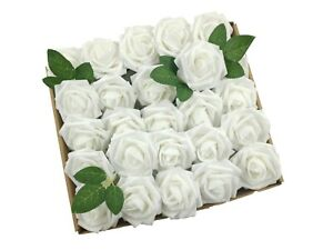 50pcs Artificial Foam Rose Wedding Bouquet Baby Shower Flower Ball Party Decor