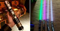 Disneyland Star Wars Galaxy's Edge Savi's Workshop Custom Built Lightsaber.