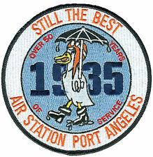 Air Station Port Angeles WA rainy duck 50 years W0882 USCG Coast Guard patch