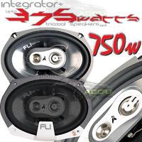 """FLI Integrator 69 6x9"""" 750w 3 Way Car Van Motorhome Parcel Shelf Speakers Pair"""