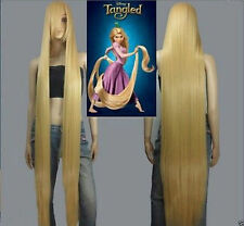 NEW Disney Movie Tangled Rapunzel long blonde cosplay wavy wig 150cm Hot Cool