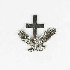 Biker Motorrad Eagle Cross Adler Kreuz Jesus Button Pin Anstecker Anstecknadel