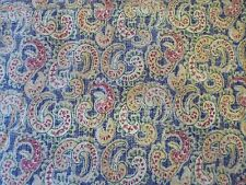 "Waverly Paisley Upholstery Fabric Washed Out Look 3 Yards x56"" Wide 100% Cotton"