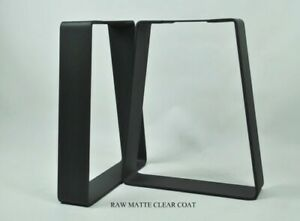 "16"" raw w/ clear coatBench Legs DIY Handcrafted Industrial Metal 2Pcs"
