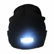 4 LED Light Cap Beanie Hat + Batteries for Hunting Camping Running Fishing UK