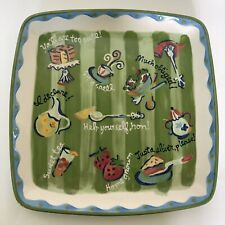 Southern Living Serving Platter - Becky Denny Southern Sayings - 11 1/2""