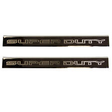 NEW OEM 15-18 Ford Super Duty Black Chrome Door Scuff Sill Plate SET Front 2