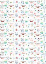 Personalised Yeti Christmas Wrapping Paper A1 size!