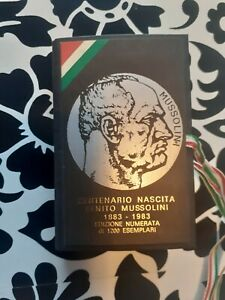 Carte Poker Benito Mussolini Centenario Edizione Numerata Gioco Fascismo 🤩🤩
