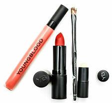 YOUNGBLOOD Focus Red Lips Vixen Lipstick Bared Lip Gel Lip Cream Lip Brush Set