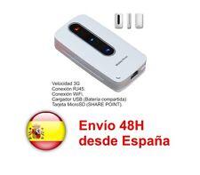 Modem 3G Wifi con RJ45 + MicroSD + Batería 3000 mA Compartida