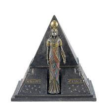"6.75"" Egyptian Queen & Pyramid Trinket Box Egypt Decor Statue Home Sculpture"