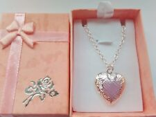 """Child Locket Necklace on 14"""" Chain Girls Jewellery Xmas Stocking Filler Gift"""