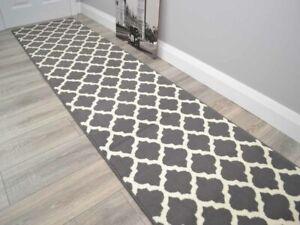 Long Grey Hall Rug Runners Very Narrow Hallway Corridor Floor Rugs Mats Cheap