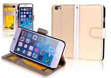 """GOLD Premium New Wallet Leather Case Cover For 4.7"""" iPhone 6"""