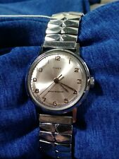 Vintage 1970 Timex Sprite Series Mechanic Men's Watch France Case RUNS
