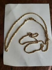 "Estate 14K Yellow Gold 22"" Rope Twist Chain Necklace - 1BBK ITALY - 4.7 Grams"