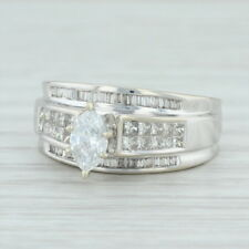0.90ctw Diamond Engagement Ring 14k White Gold Size 7.25 0.50ct Solitaire EGL