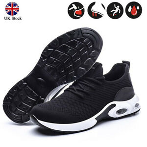 UK Lightweight Safety Trainers Steel Toe Cap Women&Mens Work Shoes Hiking Boots