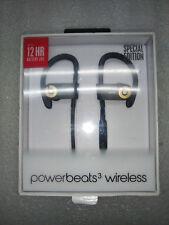 Original Powerbeats 3 Black and Gold Wireless In-Ear Headphones Ear Buds