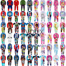 Kids All in One Boys Girls Fleece Character Childrens Pyjamas Age 1-10 Years