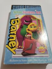 BARNEY SENSE SATIONAL DAY CLASSIC COLLECTION VHS WHITE TAPE Actimates