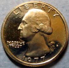"*1977-S  WASHINGTON ""PROOF"" QUARTER, San Francisco Mint BROADSTRIKE ""ERROR"" Coin"