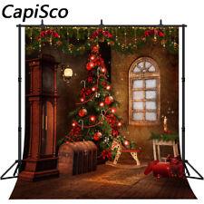 Christmas Backdrops Balls Hobbyhorse Santa Gift Box Retro House Photo Background