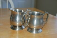 Vintage Towle Newburyport Pewter Creamer and Sugar bowl 7604/7603