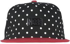 NEFF Dotty Cap Metal Plate Snapback Hat Headwear Cap Streetwear Style Black/Red