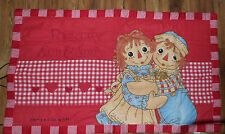 """NEW RED RAGGEDY ANN & ANDY BABY BLANKET QUILT 54"""" x 31 1/2"""" Simon & Schuster"""