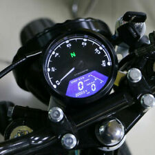 12000RPM LCD Digital Universal Odometer Speedometer Tachometer Gauge Cafe Racer