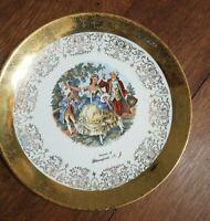 """Vintage SABIN Warranted 22kt Crest O Gold Plate """"Souvenir Of Bloomfield NJ"""