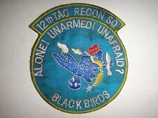 Korea War (1950-53) Patch Us Air Force 12th Tactical Recon Squadron Black Birds