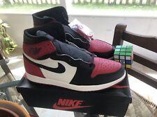 release date: f83b4 b4217 Nike Air Jordan 1 Retro High OG BRED TOE White Red Black Size 15