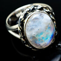 Rainbow Moonstone 925 Sterling Silver Ring Size 8.25 Ana Co Jewelry R11460F