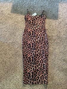 Cheetah Print Long Bodycon Dress