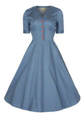 Bnwt Lindy Bop Sz12 Ionia Fit And Flare 40s 50s Vintage Style Dress Polka Dot