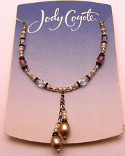 """JODY COYOTE 17"""" Necklace w/Beads, Cultured Freshwater Pearls 925 Sterling Silver"""