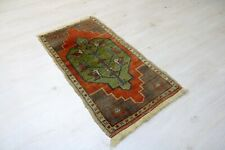 "Sivas Carpet Doormat, 18.9""x34.3"", Turkish Doormat, Handmade Vintage Doormat"