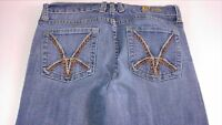 Kut From the Kloth Jeans Womens SZ 4/6 Boot Cut Embroidered 29.5 x 30.5 Actual