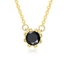 Yellow Gold Plated Necklace Women's Pendant Flower AAA Zirconia B179