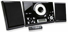 CD Player Compact Stereo with FM Radio Clock Alarm And Wall Mountable Black New